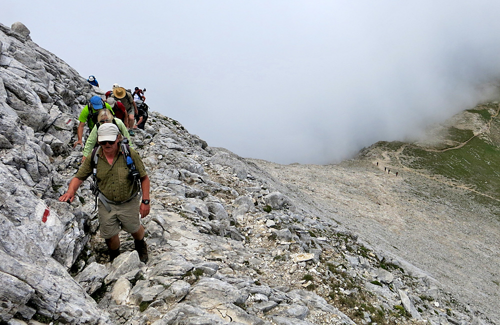 climbing the vihren summit in pirin mountains, self-guided hiking in bulgaria