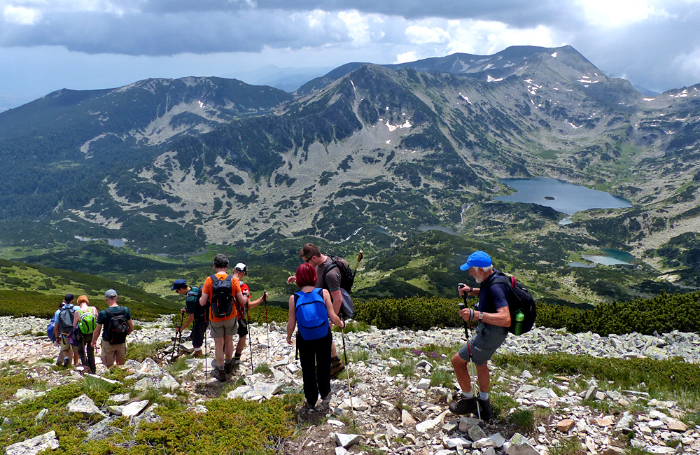 trekking tour in pirin mountains, climbing polezhan