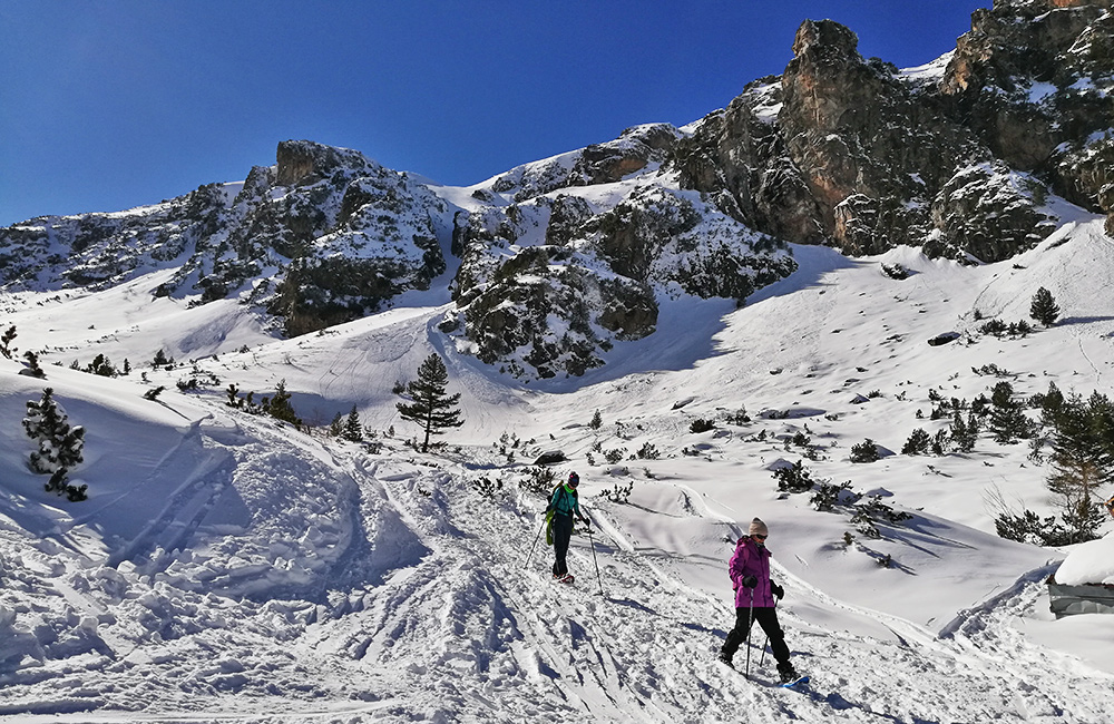 snowshoe winter tours in bulgaria, rila mountains