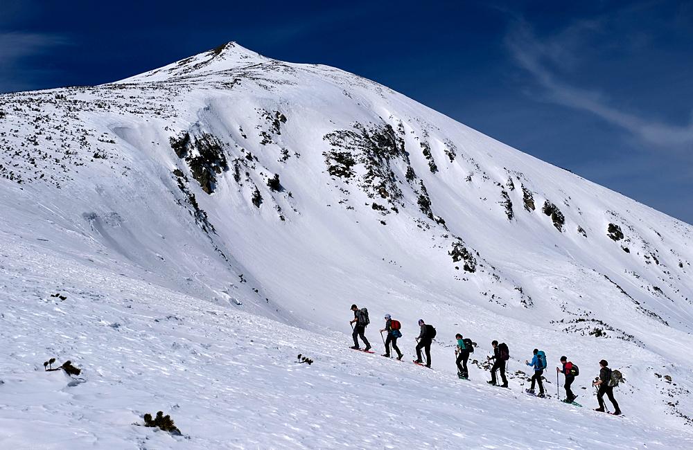 skibergsteigen in rila und pirin bergen, bulgarien