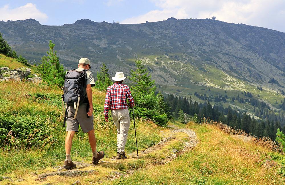 caminatas y caminatas autoguiadas y trekking montañas de vitosha en bulgaria
