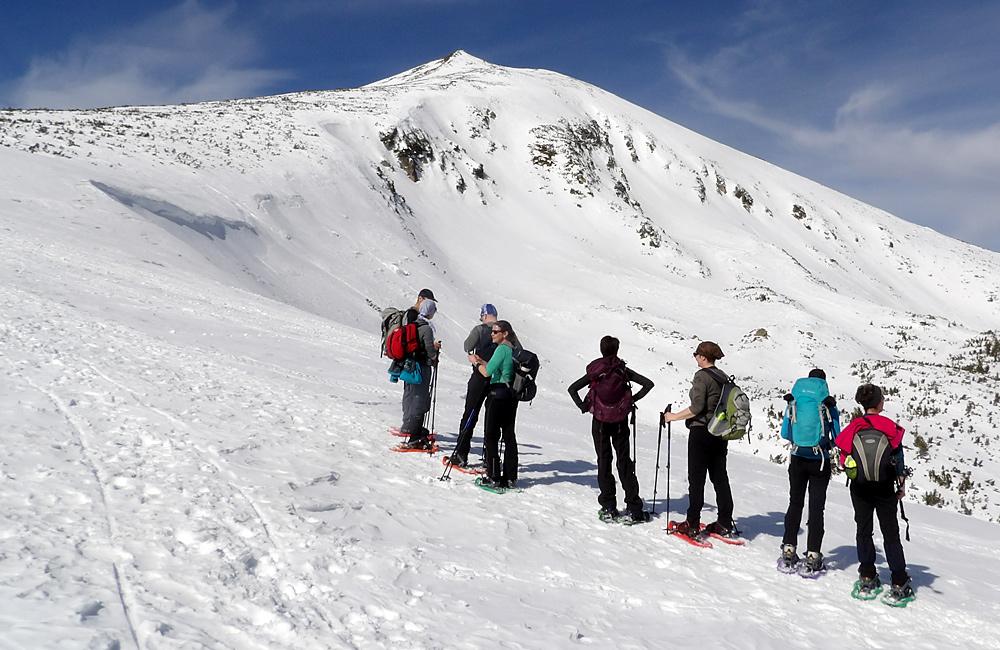 schneeschuhwandern in bulgarien; vitosha, rila und pirin bergen