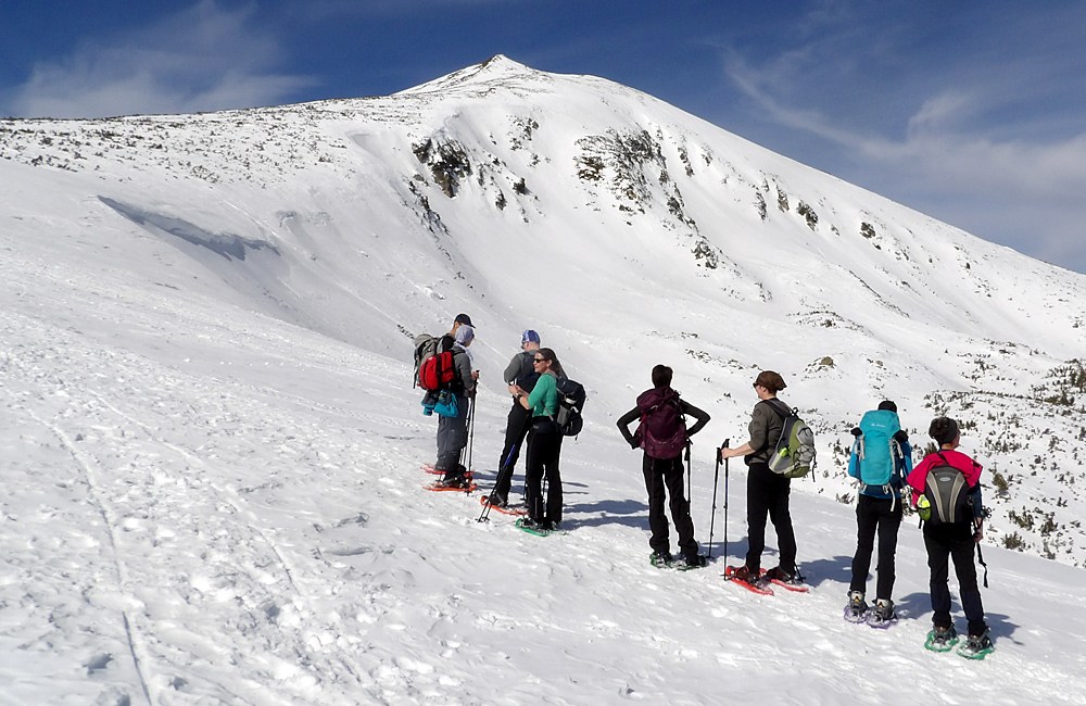 SNEEUWSCHOENAVONTUUR groepswandelreizen wandelreizen in bulgarije Vitosha Pirin Rila bergen