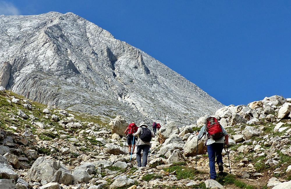 wandertouren in den pirin bergen, trekking zum vihren gipfel