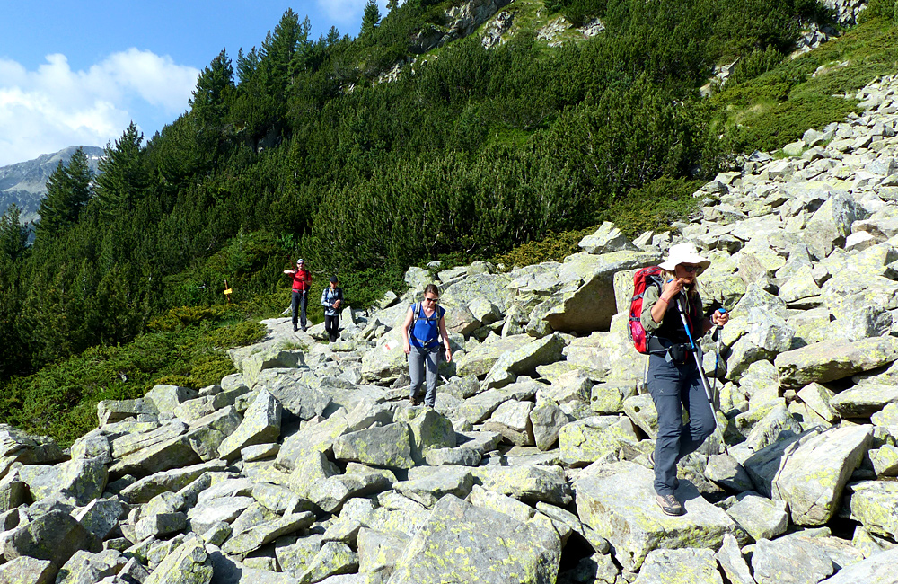hiking and trekking tour in pirin mountains, climbing vihren summit