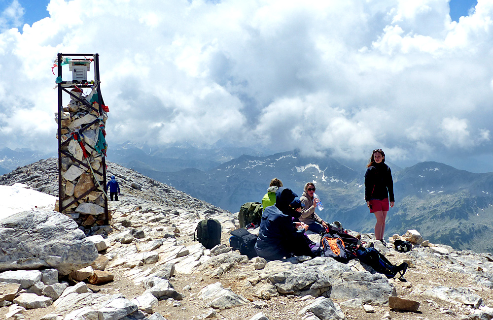 climbing mount vihren in pirin mountains, bulgaria
