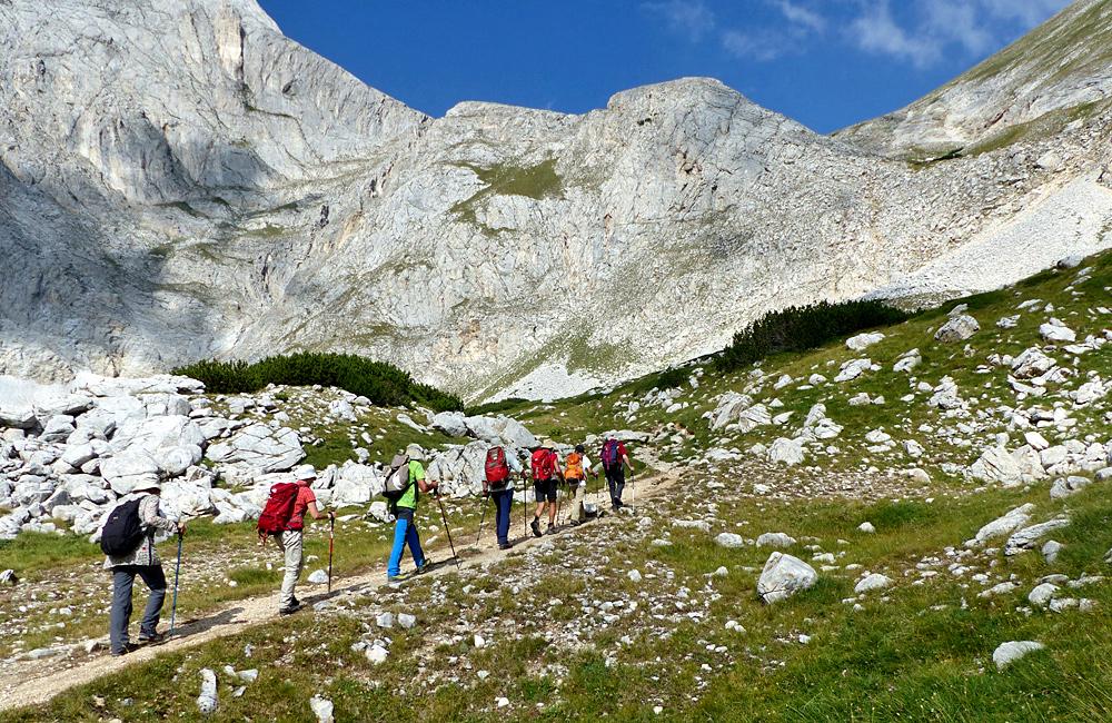 wandern- und trekkinftouren in den pirin bergen, bulgarien (vihren gipfel