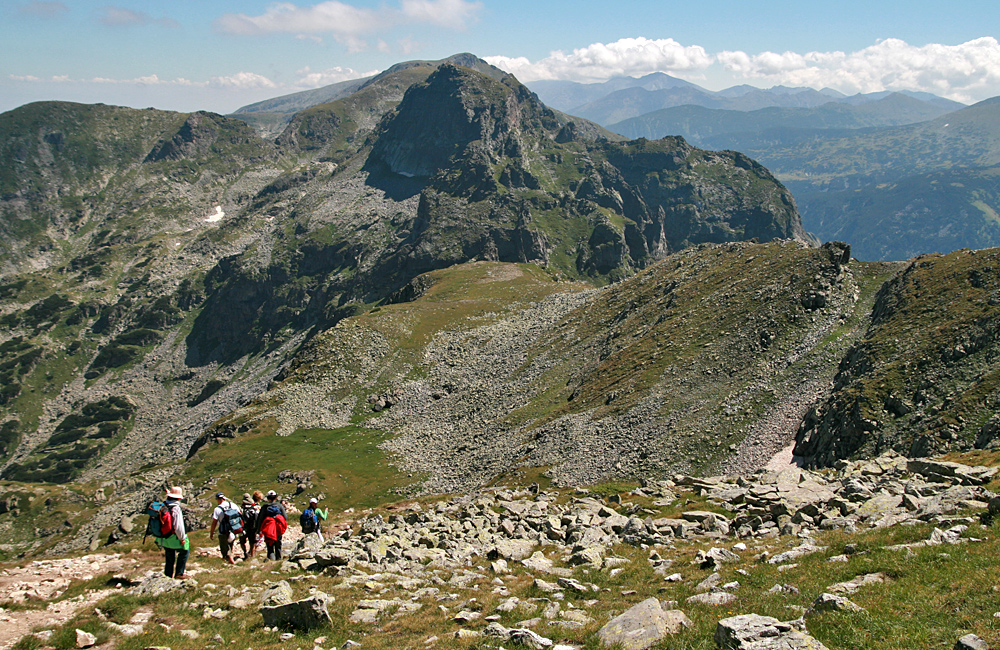 climbing malyovitsa summit, rila mountains