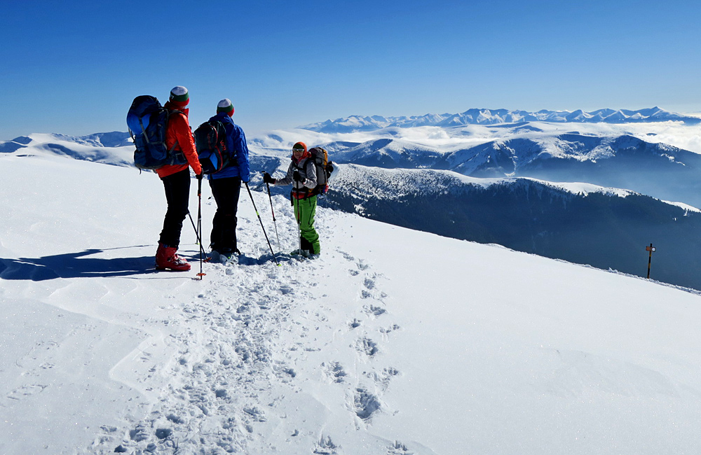 ski touring and backcountry skiing in bulgarian mountains
