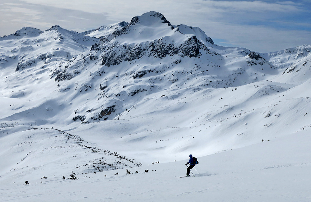 ski touring in pirin mountains, bulgaria