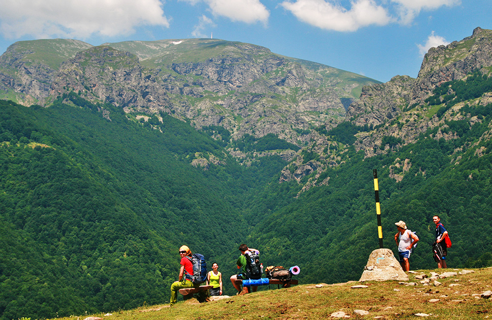 hiking and trekking in the balkan mountains, bulgaria