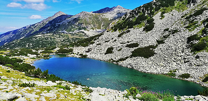 Wandern in den Bergen von Bulgarien