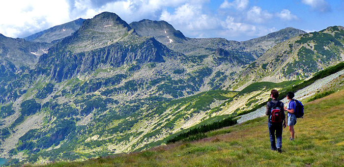 wandern individuell in den pirin bergen, bulgarien