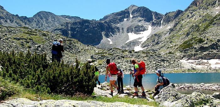 trekking individuale nelle montagne rila e pirin, bulgaria